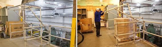 palletgate ribalte basculanti carico scarico magazzini soppalcati
