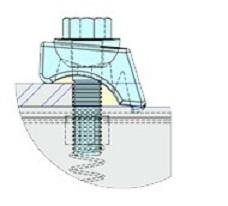 Beamclamp ancoraggio strutture impianti di servizio