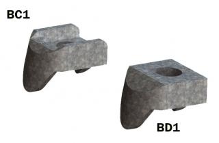 Morsetto tipo BC BD connessione strutture metalliche