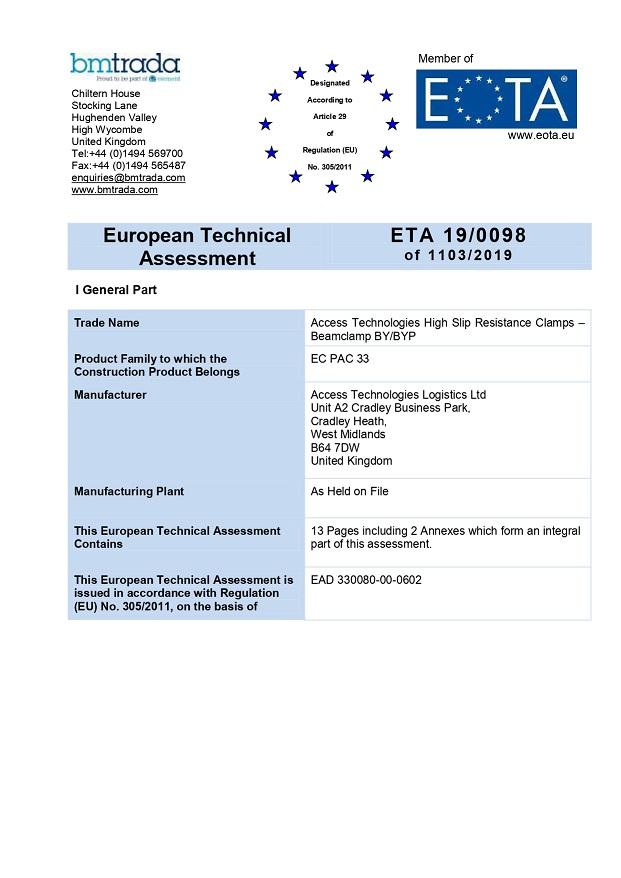 certificazione CE beamclamp