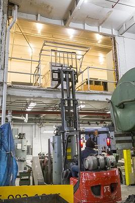 Palletgate protezioni anticaduta aperture mezzanini soppalchi baie di carico