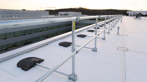 keeguard parapetto autoportante protezione anticaduta tetti piani