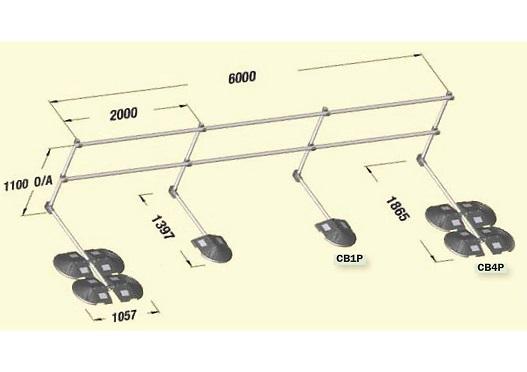 Parapetto permanente di sicurezza anticaduta dispositivi di protezione collettivi (DPC) - KeeGuard dispositivo di sicurezza anticaduta collettiva